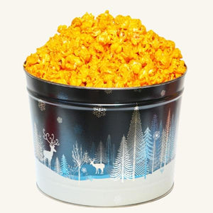 Johnson's Popcorn 2 Gallon Crystal Evening Tin-Cheddar Cheese