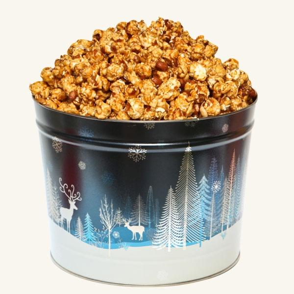 Johnson's Popcorn 2 Gallon Crystal Evening Tin-Peanut Crunch