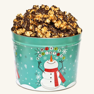 Johnson's Popcorn 2 Cheery Snowman Tin