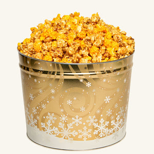 Johnson's Popcorn 2 Gallon Swirling Snow Tin-Salty-n-Sandy