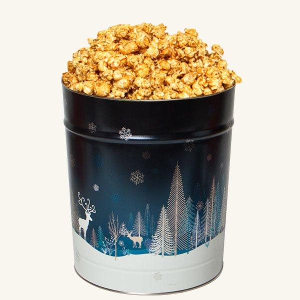 Johnson's Popcorn 3.5 Gallon Crystal Evening Tin-Caramel