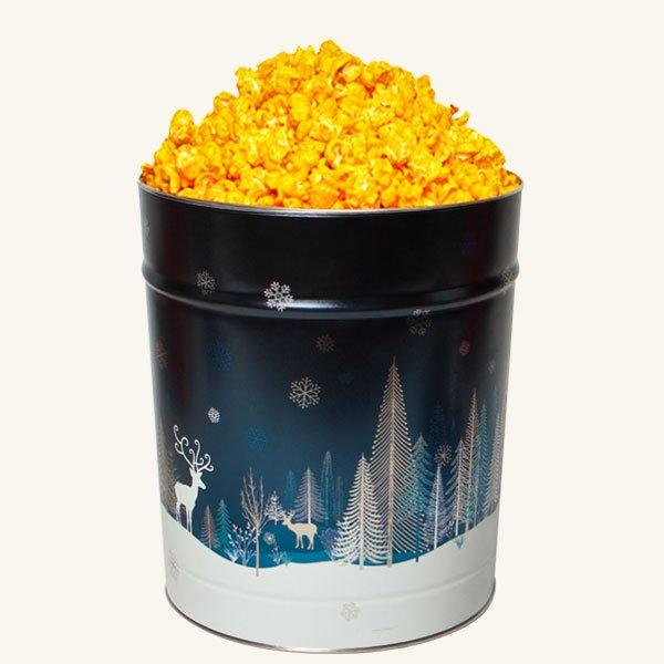 Johnson's Popcorn 3.5 Gallon Crystal Evening Tin-Cheddar Cheese