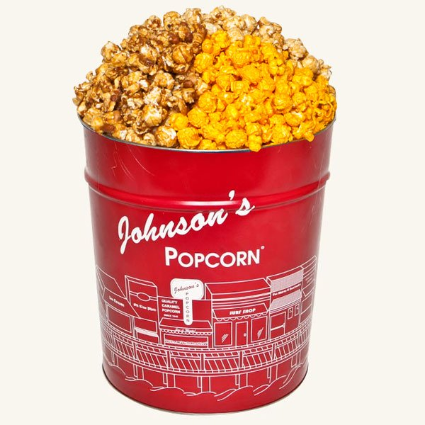 Tri Flavor 3.5 Gallon Johnson's Popcorn Tin