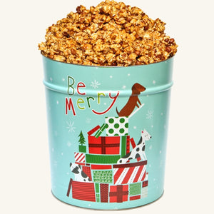 Johnson's Popcorn 3.5 Gallon Jingle Pups Tin