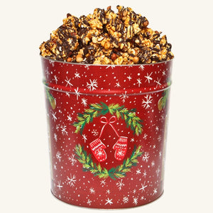 Johnson's Popcorn 3.5 Gallon Warm Winter Wishes Tin