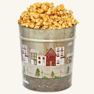 Johnson's Popcorn 3.5 Gallon Cozy Christmas Tin-Caramel