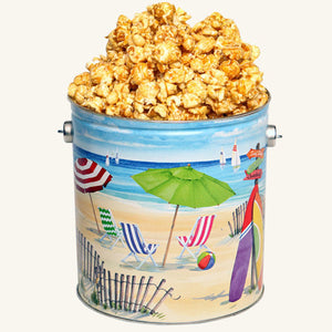 Johnson's Popcorn 1 Gallon Fun in the Sun Tin-Caramel