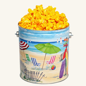 Johnson's Popcorn 1 Gallon Fun in the Sun Tin-Cheddar Cheese