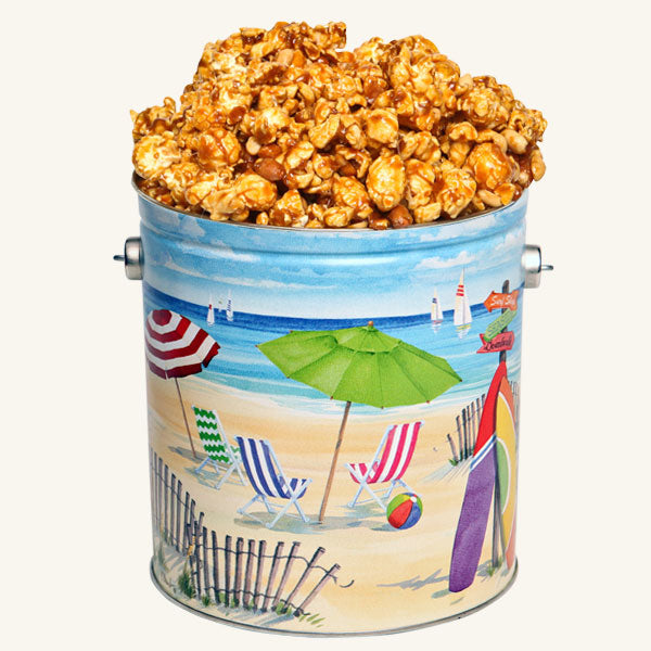 Johnson's Popcorn 1 Gallon Fun in the Sun Tin-Peanut Crunch