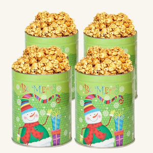 Johnson's Popcorn Be Merry Tins - 4 Pack