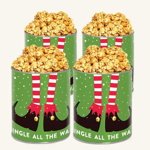 Johnson's Popcorn Jingle all the Way Tins - 4 Pack