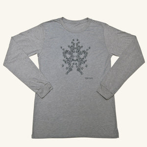 Johnson's Gray Graphic Popcorn Long Sleeve