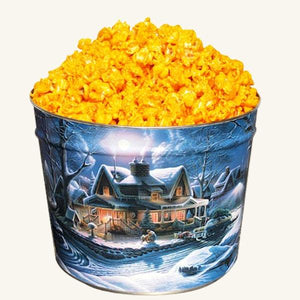 Johnson's 2 Gallon Popcorn First Homecoming Tin-Cheddar Cheese
