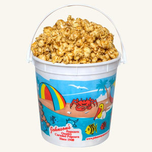 Johnson's Popcorn Small Beach Bucket-Caramel