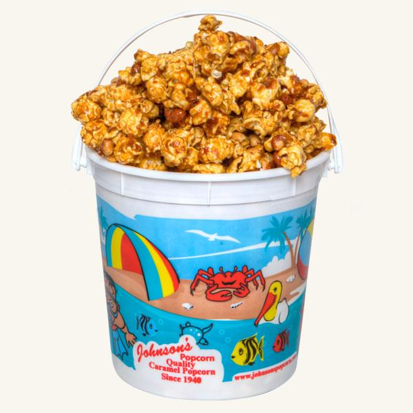 Johnson's Popcorn Small Beach Bucket-Peanut Crunch