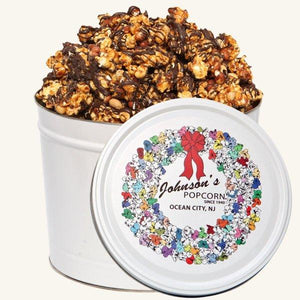 Johnson's 2 Gallon Popcorn Wreath Tin-Platinum Edition