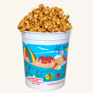 Johnson's Popcorn Large Beach Bucket-Peanut Crunch
