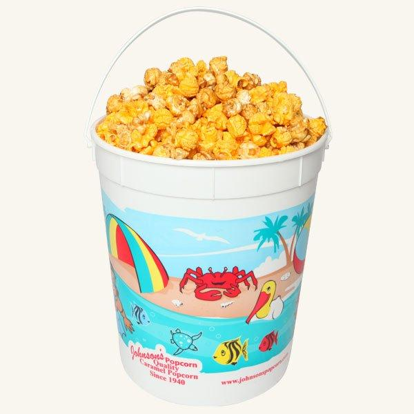 Johnson's Popcorn Large Beach Bucket-Salty-n-Sandy