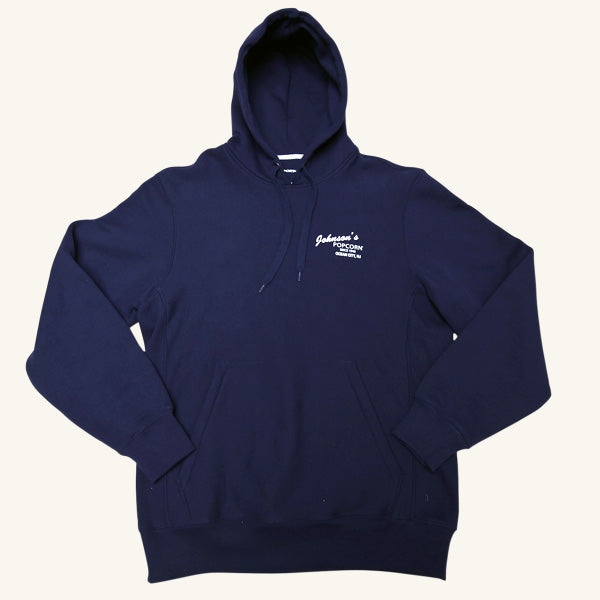 Johnson's Navy Hooded Sweatshirt