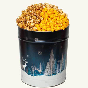 Tri Flavor 3.5 Gallon Crystal Evening Popcorn Tin-Caramel-Cheddar-Peanut