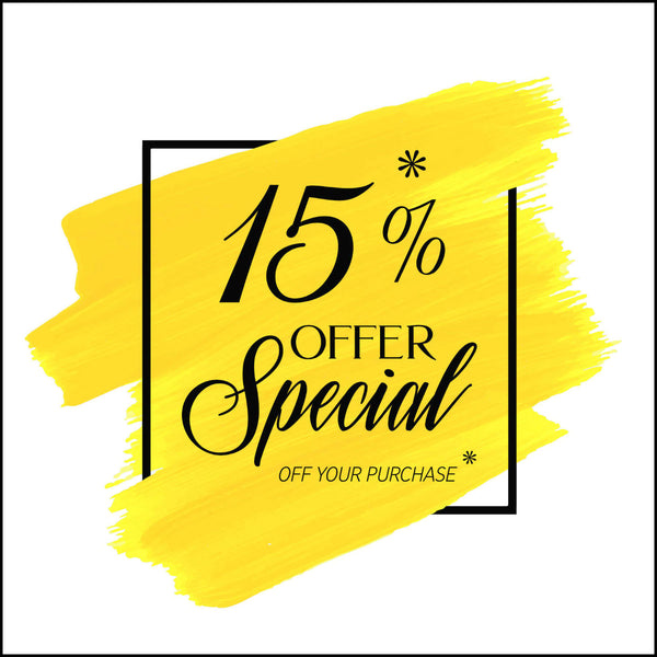 Special Offer: 15% Discount!