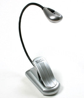 Silver Xtra-Flex clip-on LED light