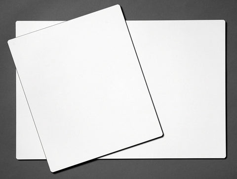 Large blank dry-erase board