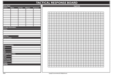 Screened tactical entry team dry-erase board