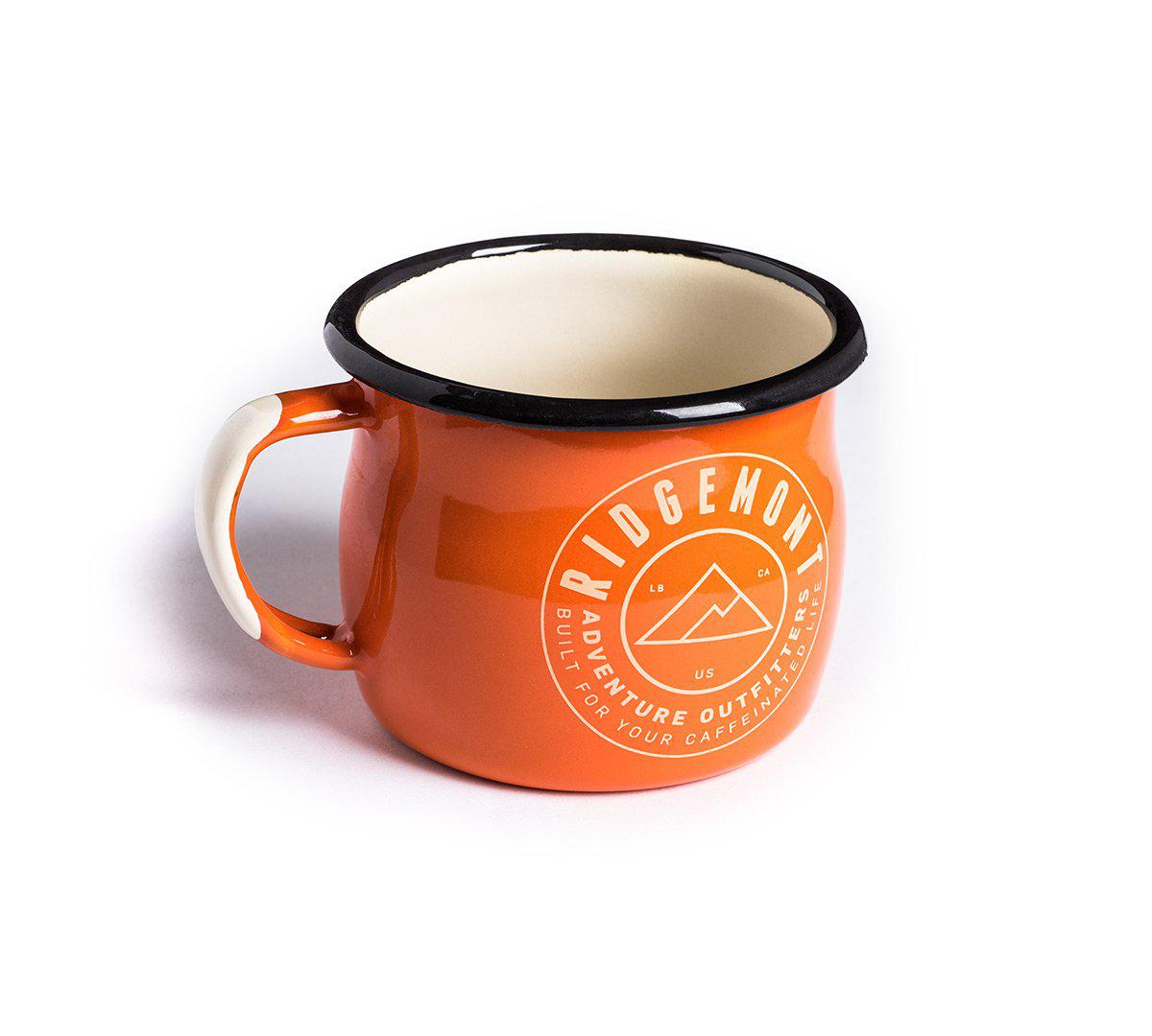 Ridgemont Accessory One Size Logo Enamel Mug - Orange