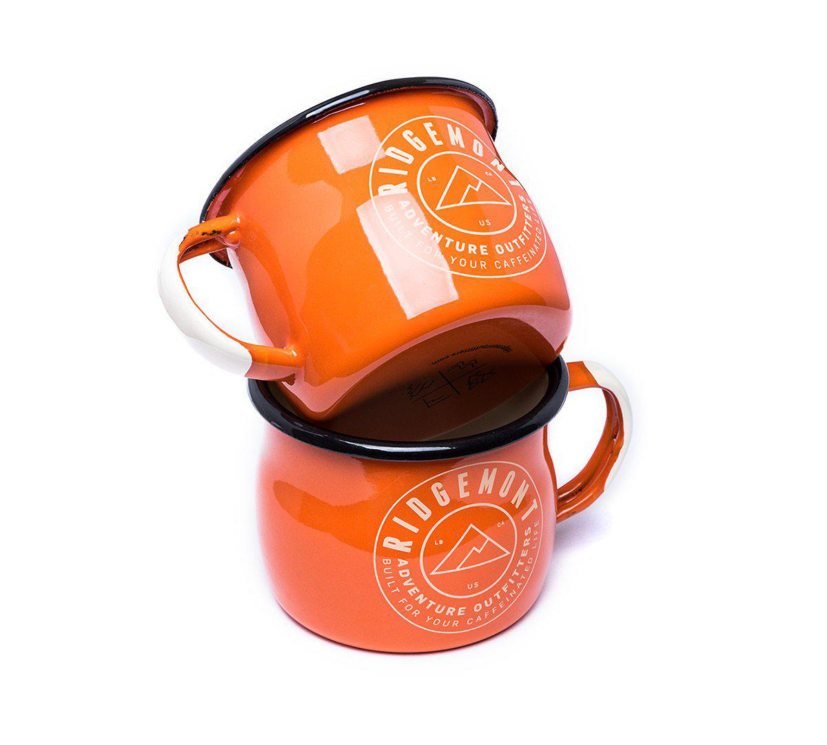 Logo Enamel Mug - Orange - Ridgemont