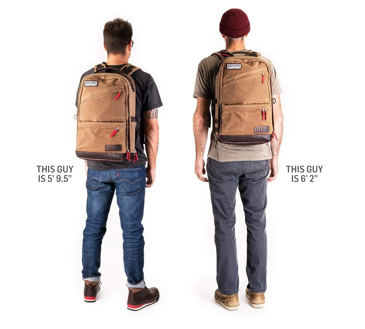Ranger Backpack - Brown/Red - Ridgemont