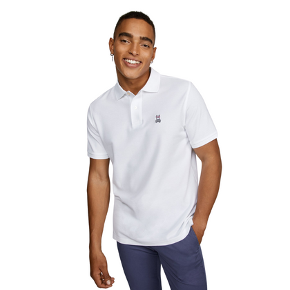 Camiseta Polo Psycho Bunny Blanca para Hombre - Enjoy it Market