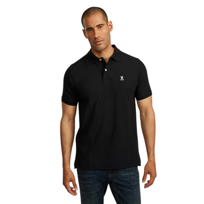 Camiseta Polo Psycho Bunny Negro para Hombre - Enjoy it Market