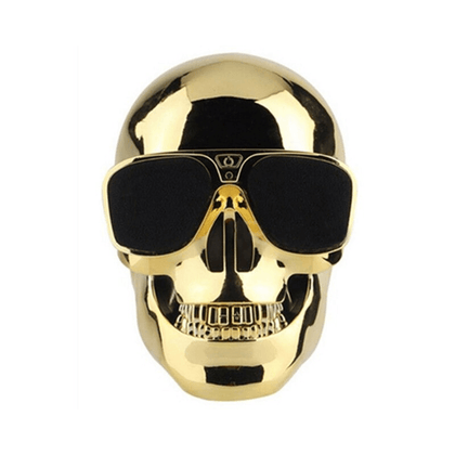 Parlante Inalámbrico Bluetooth Diseño de Calavera Dorada (Gold Skull) - Enjoy it Market