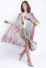 Load image into Gallery viewer, Beach kimono Pink wings