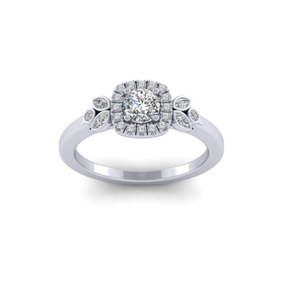 Christine Diamond Ring Platinum Jessica Wilson Design