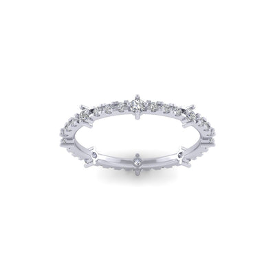 Rosa eternity ring