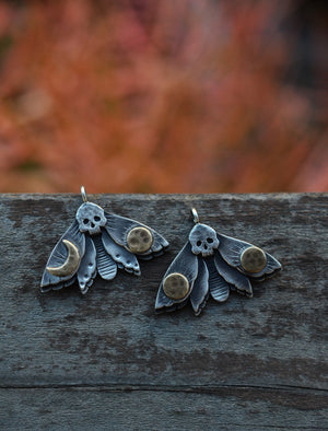 Dark Spring III - ONE Moth Charm - Choose your Design - NO CHAIN