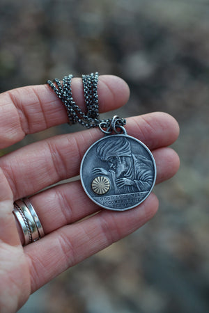 The Fortune Teller  - Double Sided Lucky Medallion - Made to Order
