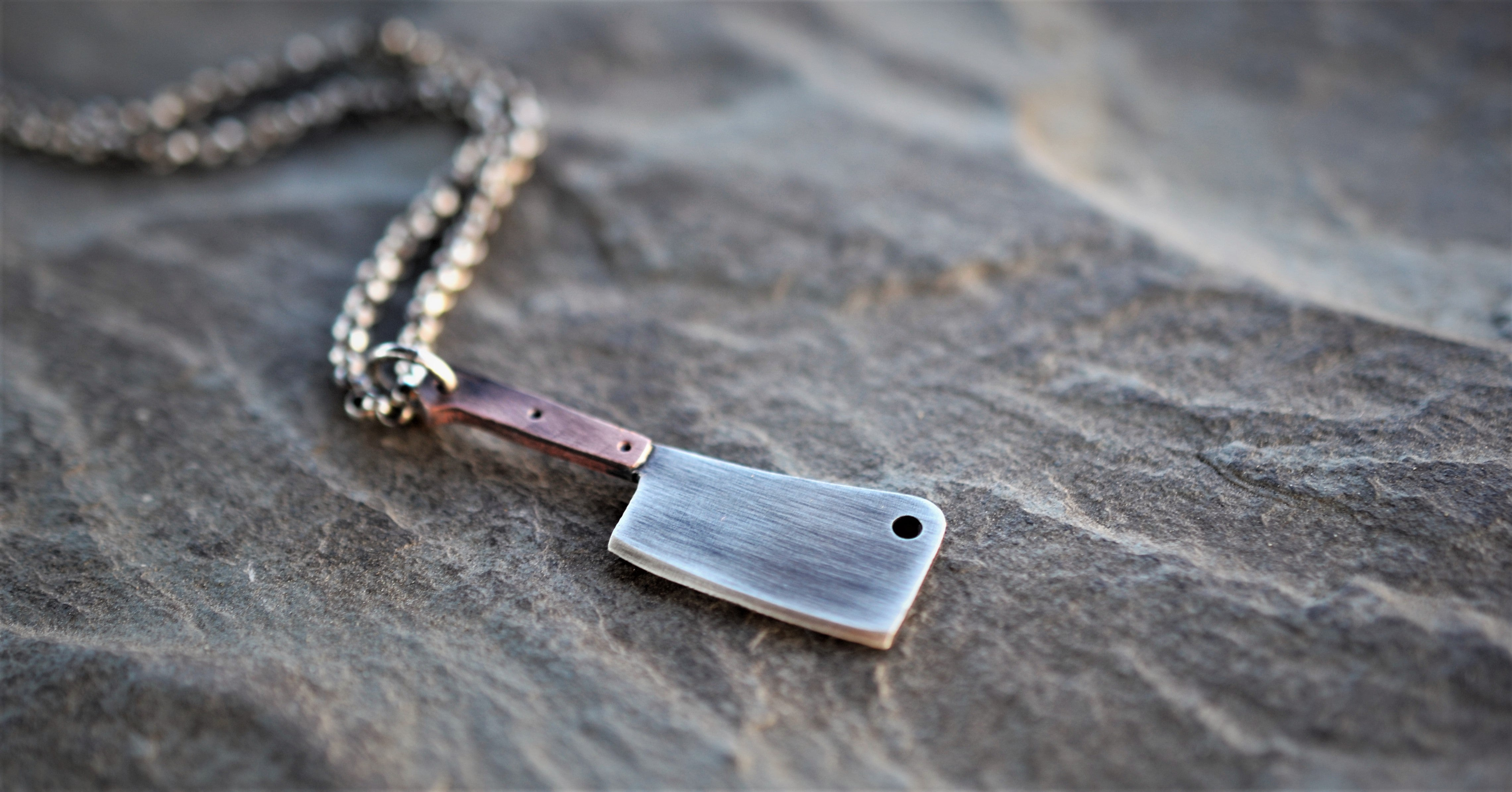 The Butcher II - Meat Cleaver Necklace