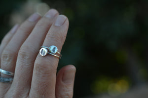 The Evergreen Collection - ONE Mini Forest Stacker Ring - Choose Your Design - Sterling Silver