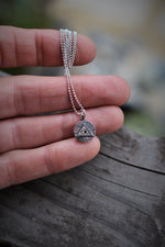 Fan Favorites - Tiny All Seeing Eye Charm necklace - Sterling Silver