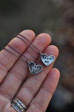 ONE Small Candy Heart Charm - Conversation Heart - Sterling Silver