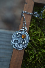 Exclusive VIP Holiday Shopping - Skull Double Spider Charm - Citrine