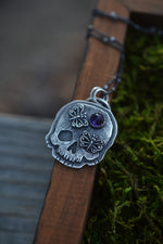 Exclusive VIP Holiday Shopping - Skull Double Butterfly Charm - Amethyst