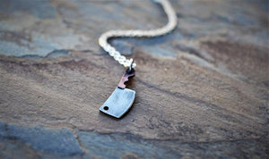 The OG Butcher - Mini Meat Cleaver Necklace - Women's Version