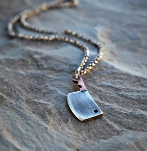 The GRANDE Butcher- Meat Cleaver Necklace