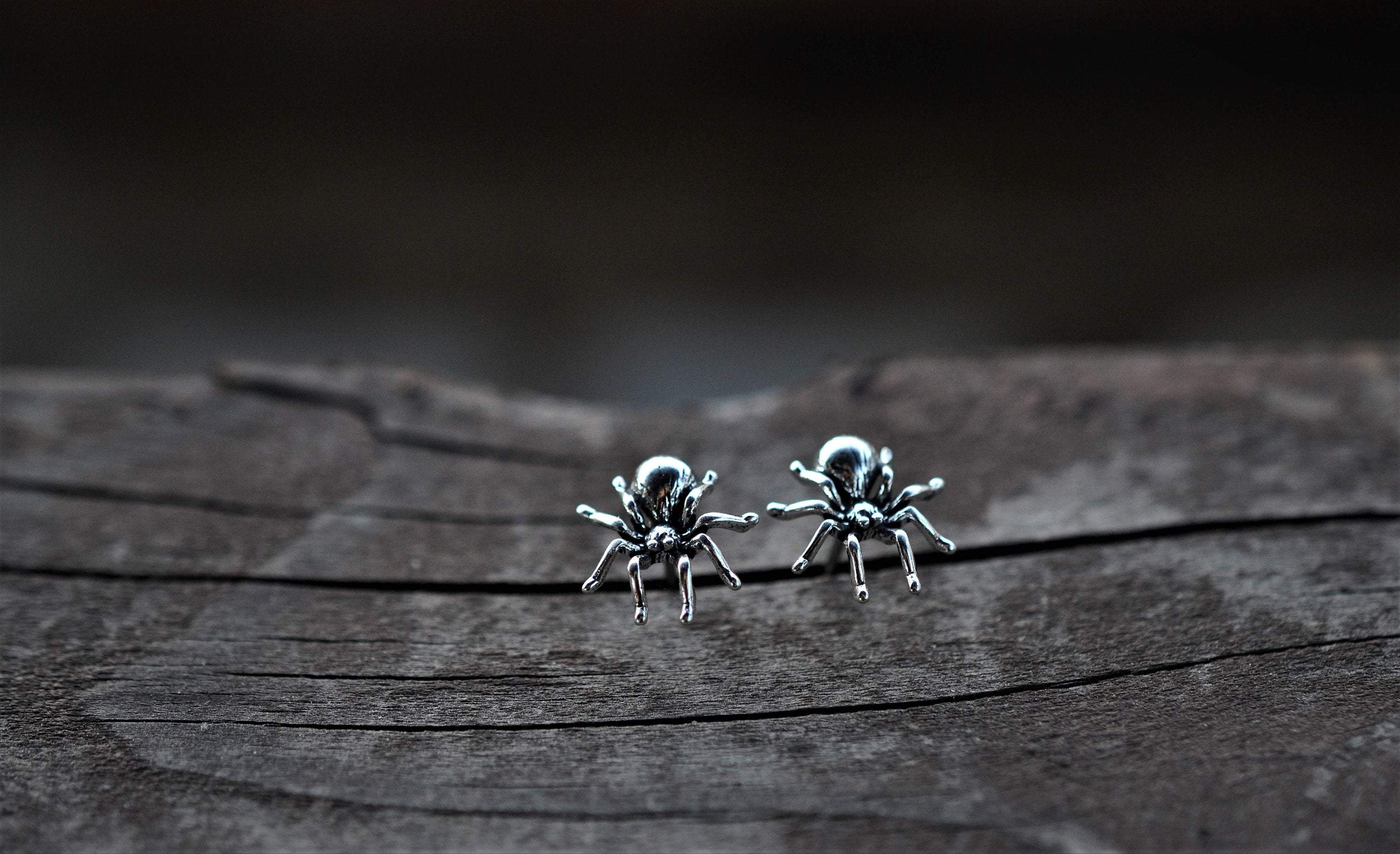 Sterling Silver Spider Studs