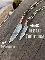 The Psycho - Mini Knife Necklace - Chef Knife