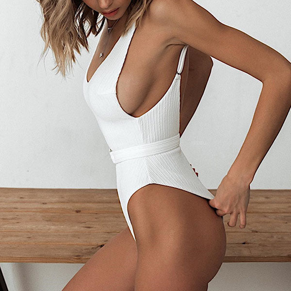 Leigh Belted Swimsuit
